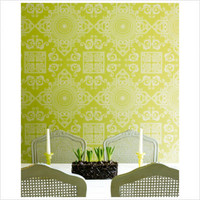 Graham & Brown Mystique Avocado Wallpaper by Laurence Llewelyn-Bowen | All Modern
