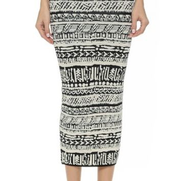 Ronny Kobo Ronny Blister Stitch Tribal Skirt