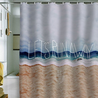 DENY Designs Home Accessories | Leah Flores Lets Run Away III Shower Curtain