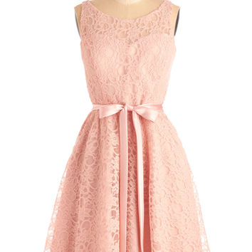 ModCloth Fairytale Sleeveless A-line Simply Divine Dress in Blush