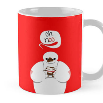"Big Hero 6 Six - Funny Baymax Nutella ""Oh, no"" Ceramic Mug"