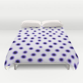 dots of focus Duvet Cover by Austeja Saffron