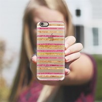 Glamour Stripes Salsa iPhone 6 case by Lisa Argyropoulos | Casetify