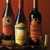 Classic Halloween Wine Labels
