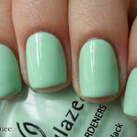 China Glaze Nail Polish Lacquer (80937-Re-Fresh Mint) Up &amp; Away NEW LIGHT GREEN