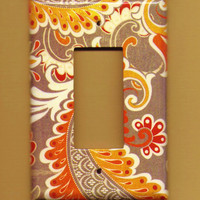 Oversized 35 x 525 Orange Zest Rocker plate by TurnMeOnArt on Etsy