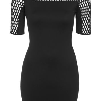 **Laser Cut Bodycon Dress by Rare - Dresses - Clothing