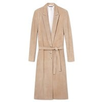 Italian Suede Trench Coat
