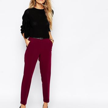 ASOS Cigarette Trouser With Belt