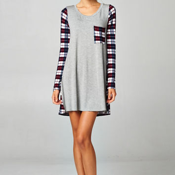 Burgandy Plaid Tunic