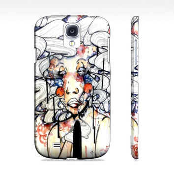 Watercolor and ink cell phone case - Samsung galaxy phone case - Cell Phone Case - Art case - S4 case - Hardcover case