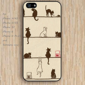 iPhone 6 case dream colorful cats iphone case,ipod case,samsung galaxy case available plastic rubber case waterproof B149