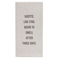 """Guests Like Fish"" Linen Guest Book 