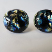 Dichroic Glass Earrings from C & J Designs