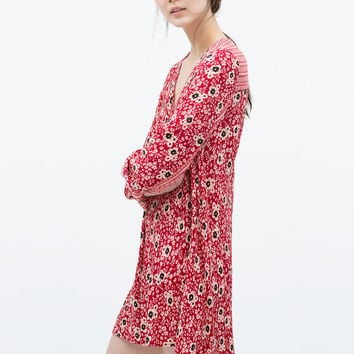 COMBINED PRINTED DRESS