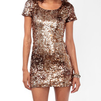 Shimmering Paillette Bodycon Dress