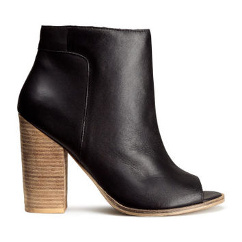 H&M Leather Ankle Boots $79.95