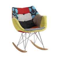 Eclectic Patterned Rocker