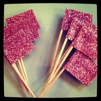 Glitter Flags for Cupcakes!
