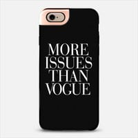 More Issues Than Vogue Black iPhone 6 case by Rex Lambo | Casetify