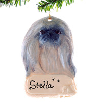 Pekingese ornament - Personalized Christmas Ornament - Pekingese dog ornament