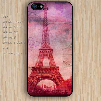 iPhone 5s 6 case colorful eiffel tower cartoon iphone case,ipod case,samsung galaxy case available plastic rubber case waterproof B250