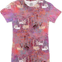 Evil cats Women's T-Shirts by Marianna Tankelevich | Nuvango