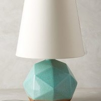 Geo Facets Lamp Ensemble by Anthropologie Mint One Size Lighting