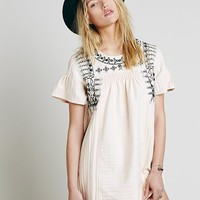 Free People New Romantics Heritage Embroidered Tunic
