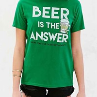Junk Food St. Patty's Day Beer Tee- Green