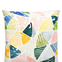 Emerald Triangles Pillow