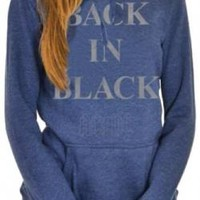 AC/DC Girls Pull Over Hoodie - Back In Black