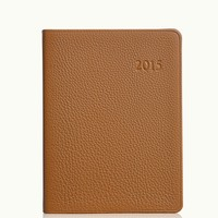 GiGi New York 2015 Desk Diary Saddle Pebble Grain Leather