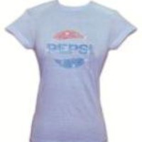 Pepsi-Cola Women's 1970's Vintage Beaded T-Shirt