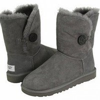 Grey Bailey Button UGG Boots [5803 Grey] - £65.55 :