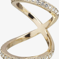 PAVE EMBELLISHED FLOATING KNUCKLE RING from EXPRESS