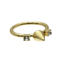 On Point Rhinestone and Spike Knuckle Ring