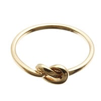 The Knot Rose Gold Stacking Ring