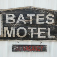 Bates motel sign made from reclaimed by countrypinefurniture