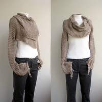FREE Shipping New Season Milky  Brown  Wrap Bolero Scarf Shawl Neckwarmer gift for Women Girl Mom Christmas Gift