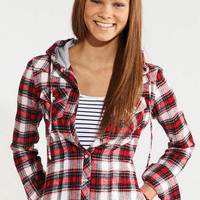 Hooded Plaid Shirt
