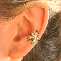 Starfish Ear Cuff in Gold Vermeil for the  LEFT  EAR.