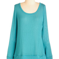 ModCloth Mid-length Long Sleeve Ruffle and Ready Top