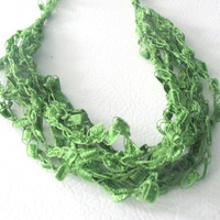 Green Ladder Necklace - Grass Green
