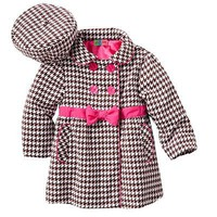 Al and Ray Houndstooth Corduroy Jacket and Hat Set - Toddler