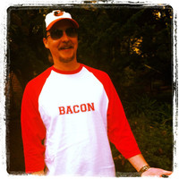 Bacon Men&#x27;s/Women&#x27;s Raglan Baseball T-Shirts | Lovebian Designs
