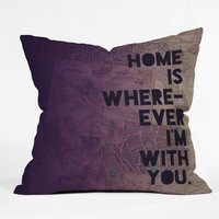 Leah Flores With You Throw Pillow - Indoor /