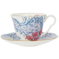 Butterfly Bloom Blue and Pink Cup And Saucer, Wedgwood. Shop more from the Wedgwood collection at Liberty.co.uk