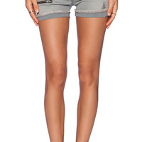 James Jeans Utility Zip Slouchy Short in Gray