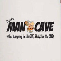 Wall Decal Dad's Man Cave with caveman vinyl wall or door sign